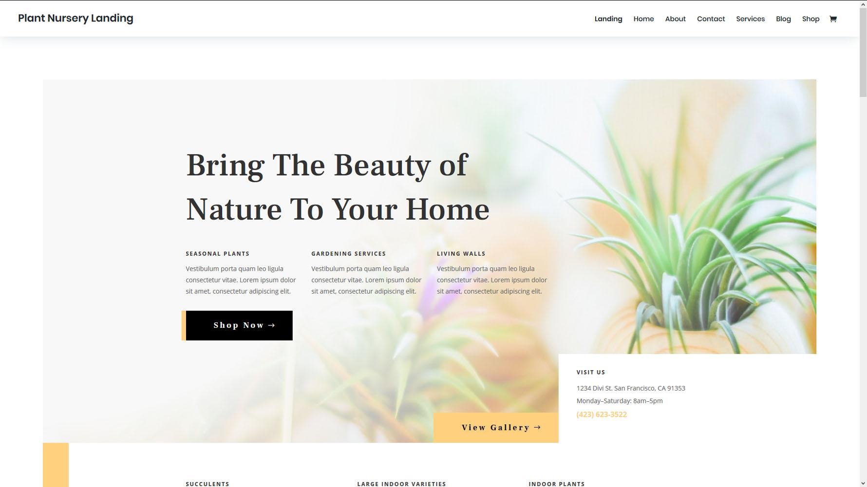 Plant Nursery 24 Hour Web Design